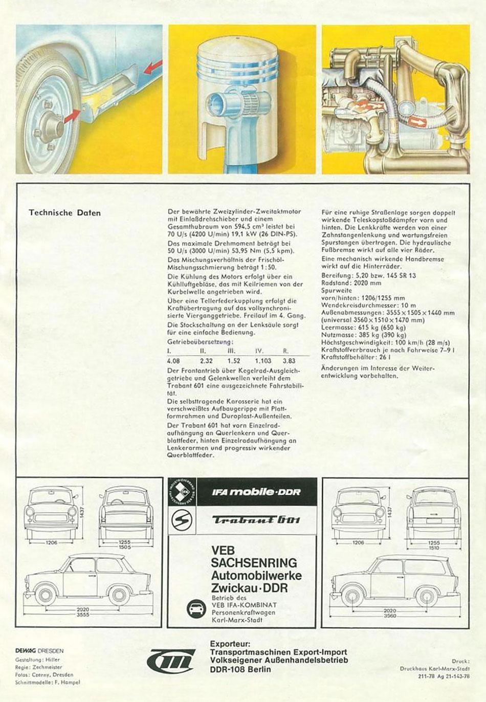 1978 - Trabant 601 Limousine und Universal